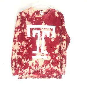 Custom Temple University Tiedye tshirt